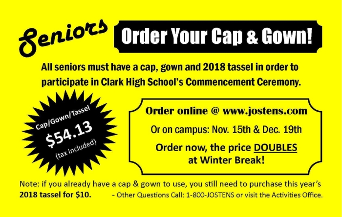 Seniors Order Your Cap & Gown! - News and Announcements - Ed W ...